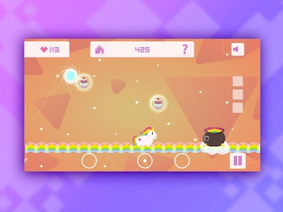 Fluffy Bounce: A Unicorn Tale – Miniaturansicht des Screenshots