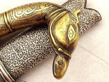 Античный Исламский Меч- Саблю «Шамшир» клинок в Дамаске
