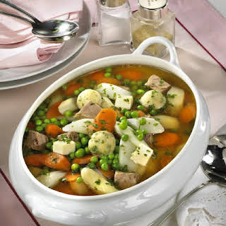 Hochzeitssuppe (German Wedding Soup) With Dumplings.