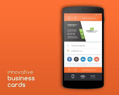 insBusinessCard screenshot