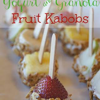 Yogurt & Granola Fruit Kabobs