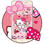 Pink Bowknot Princess Kitty Theme