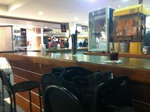 Photo: Malia at the ariport bar in Santiago, Chile