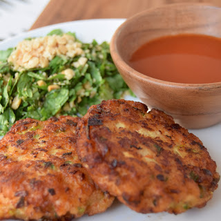 Shrimp Cakes With Watermelon Hot Sauce