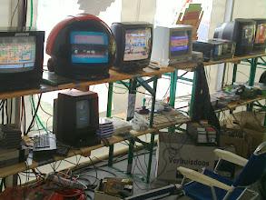 Photo: retro gaming tent