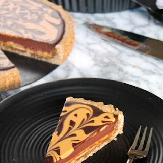 Chocolate Peanut Butter Gingerbread Tart.