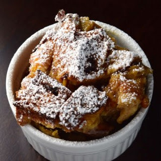 Cinnamon Bread Pudding with Raisins and Dates