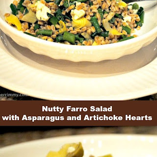 Nutty Farro Salad with Asparagus and Artichoke Hearts Recipe