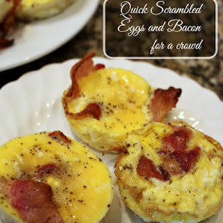 Quick Scrambled Eggs and Bacon for a Crowd Recipe
