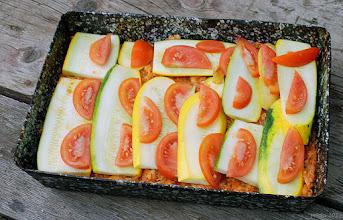 Photo: Cukinia zapiekana z mielonym mięsem i pomidorami (jeszcze przed upieczeniem) 16