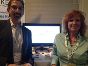 Photo: Our CMO Will Wiegler and Senior Partner Cynthie Garner pictured at our booth at Sales 2.0 Conference in San Francisco this week — at Sales 2.0 Conference, San Francisco, April 2012.