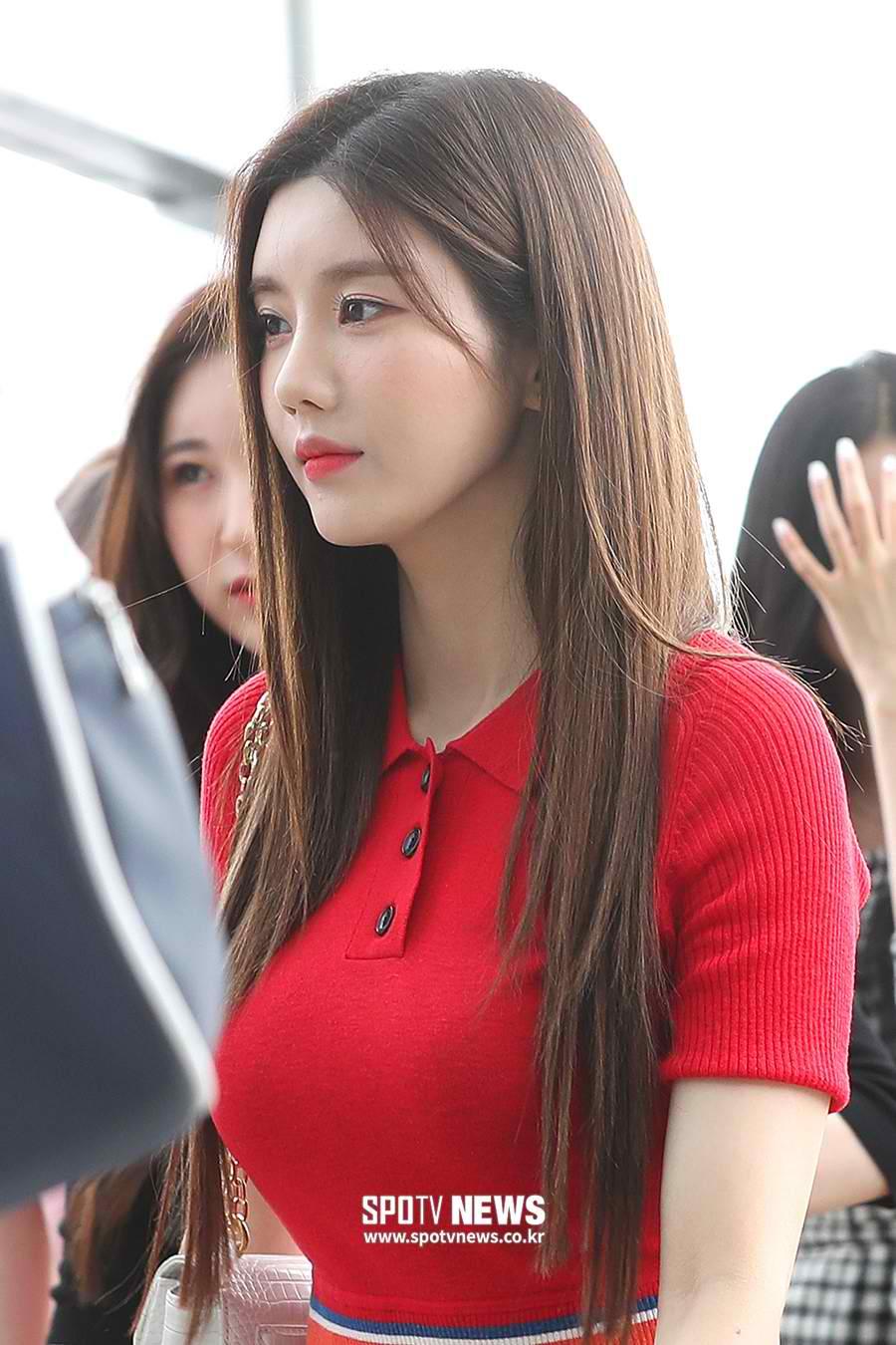 eunbi red dress2
