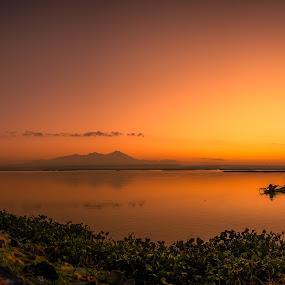 Sunset at Bendungan Batu Jai by Alexander Nainggolan - Landscapes Sunsets & Sunrises ( indonesia, batu jai, lombok tengah, sunrise, landscape, golden hour,  )
