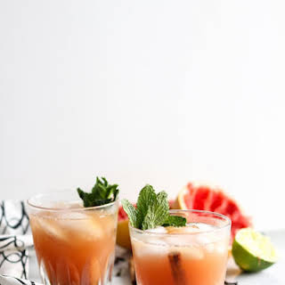 Spiced Grapefruit and Rum Cocktail.