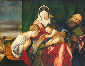 Photo: Lorenzo Lotto, The Mystic Marriage of St. Catherine, Ca. 1505-1508