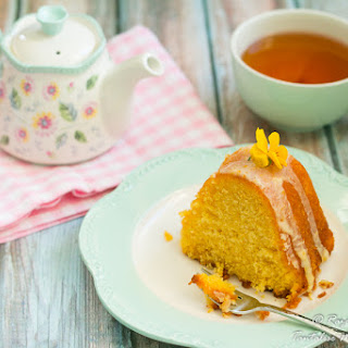 Fragrant Orange Butter Cake With Glaze Or Hot Citrus Syrup