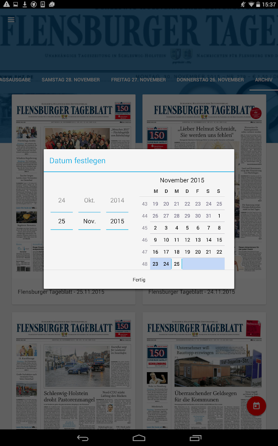 sh:z ePaper – Screenshot