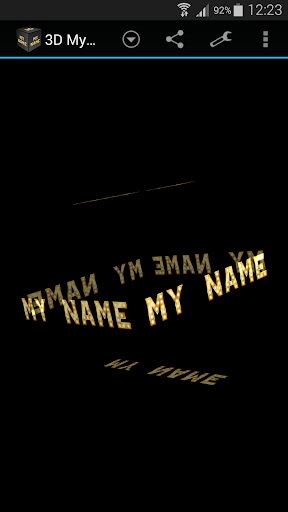 3D My Name Live Wallpaper 1.6 screenshots 3