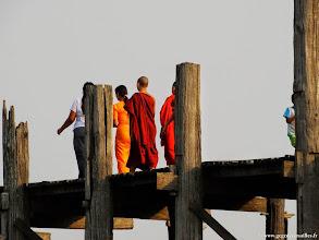 Photo: #017-Amarâpura, L'U Bein's Bridge sur Taungthaman Lake.