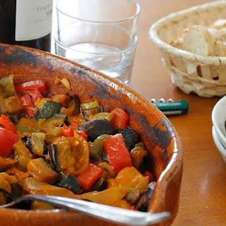 Pisto de Berenjena {Roasted Eggplant and Summer Vegetables}
