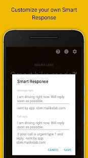 Smart bike mode Auto Responder - náhled