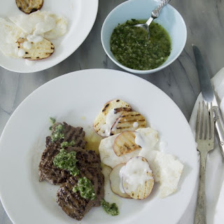 Grilled Venison with Chimichurri Sauce