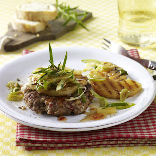 Spicy Chopped Steak with Pineapple and Spring Onions.