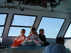 Photo: some kids riding ferry