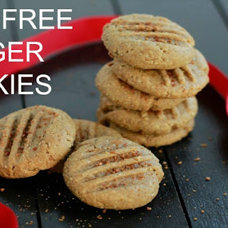 Grain Free Ginger Cookies (Nut, Dairy, and Egg Free).
