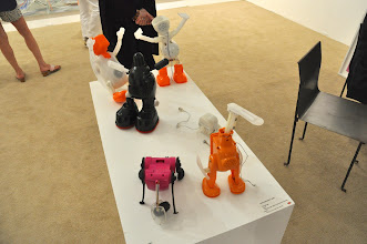 Photo: Sculptures by Cathy McClure at Edelman Arts — they are stuffed animal innards
