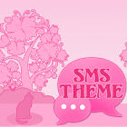 Cat Pink Theme GO SMS Pro icon