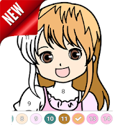 Anime Coloring by Number - Anime Coloring Book‏