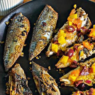 Pan-Fried Mackerel w/ Preserved Lemon 'Harissa' & Beet Orange Salsa