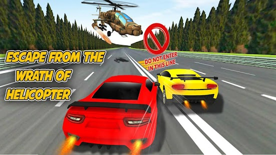 Helicopter Attack Turbo car Racing