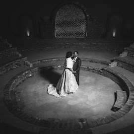 Love from the Gods by Juan Smit - Wedding Bride & Groom ( jds photography, black and white, bride and groom, bride, groom )