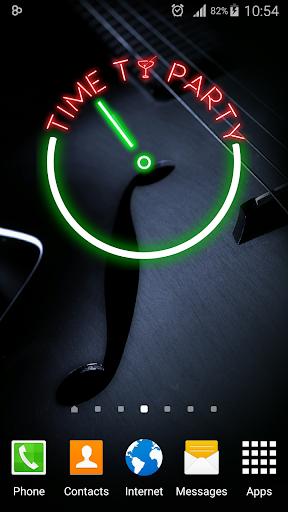 Glowing Neon Clock
