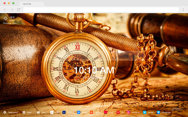 Clock New Tab Page Top Wallpapers Themes