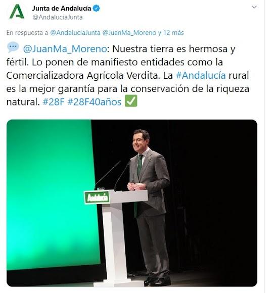 Intervención del presidente de la Junta, Juanma Moreno.