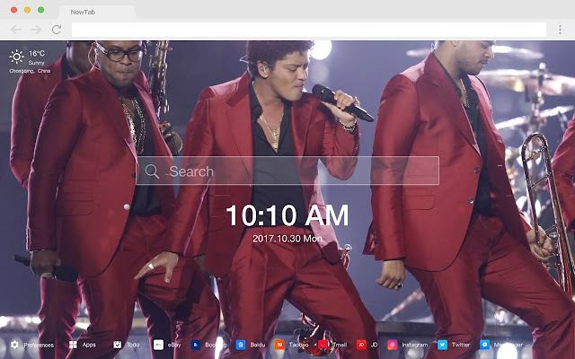 Bruno Mars New Tab Page HD Wallpapers Themes