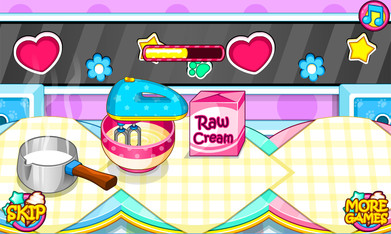 Cooking Fruity Ice Creams- screenshot