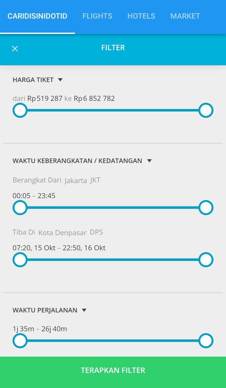Скриншот caridisini dot id mobile