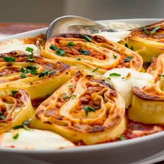Don Angie's Lasagna Pinwheels.