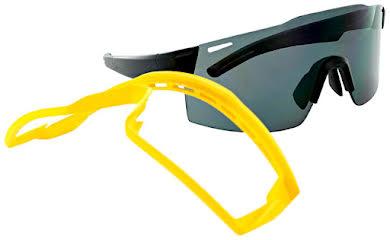 Optic Nerve Fixie Max Sunglasses - Black, Yellow Lens Rim, Smoke Lens with Silver Flash alternate image 0