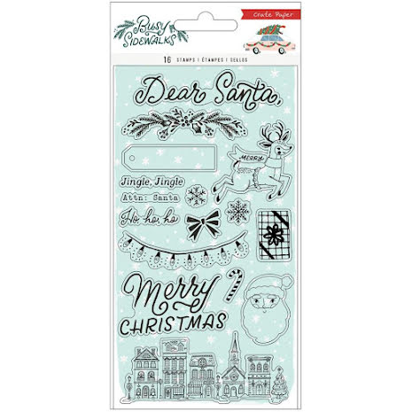 Crate Paper Acrylic Clear Stamps 16/Pkg - Busy Sidewalks