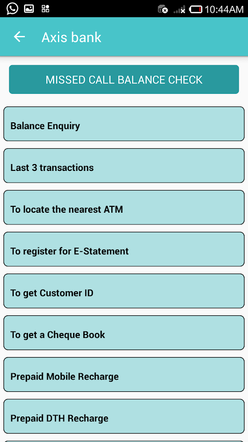 SMS Banking for ALL Bank- screenshot