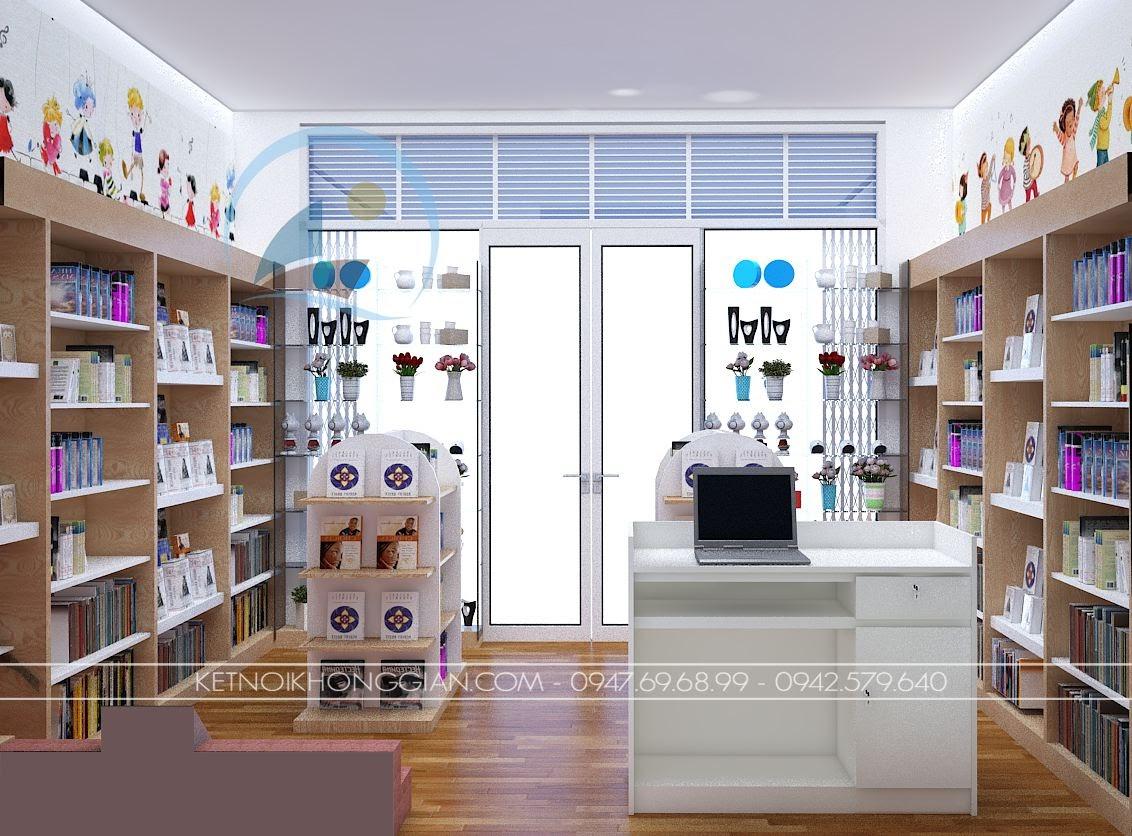 thiết kế nội thất nhà sách Dâu Tây 8