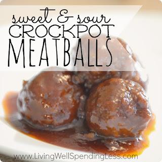 Sweet & Sour Crock Pot Meatballs.