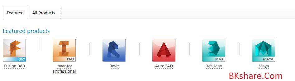 Bản quyền miễn phí 3 năm tất cả phần mềm của Autodesk