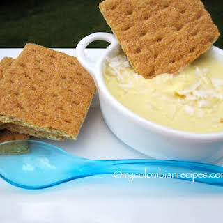 Passion Fruit and Coconut Dip.