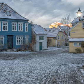 Sydneskleiven by David Guest - City,  Street & Park  Street Scenes ( bergen, winter, sydneskleiven, morning, historic )